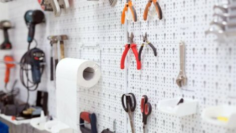 Wall holding tools.